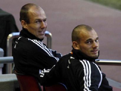 Arjen Robben Wesley Sneijder