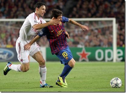 Barcelona Milan champions Messi