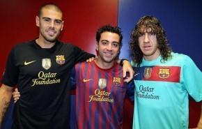 Casaca del Barcelona con escudo de Campeón del Mundo