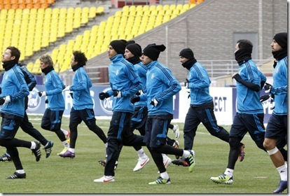 Real Madrid entrena en  Moscu