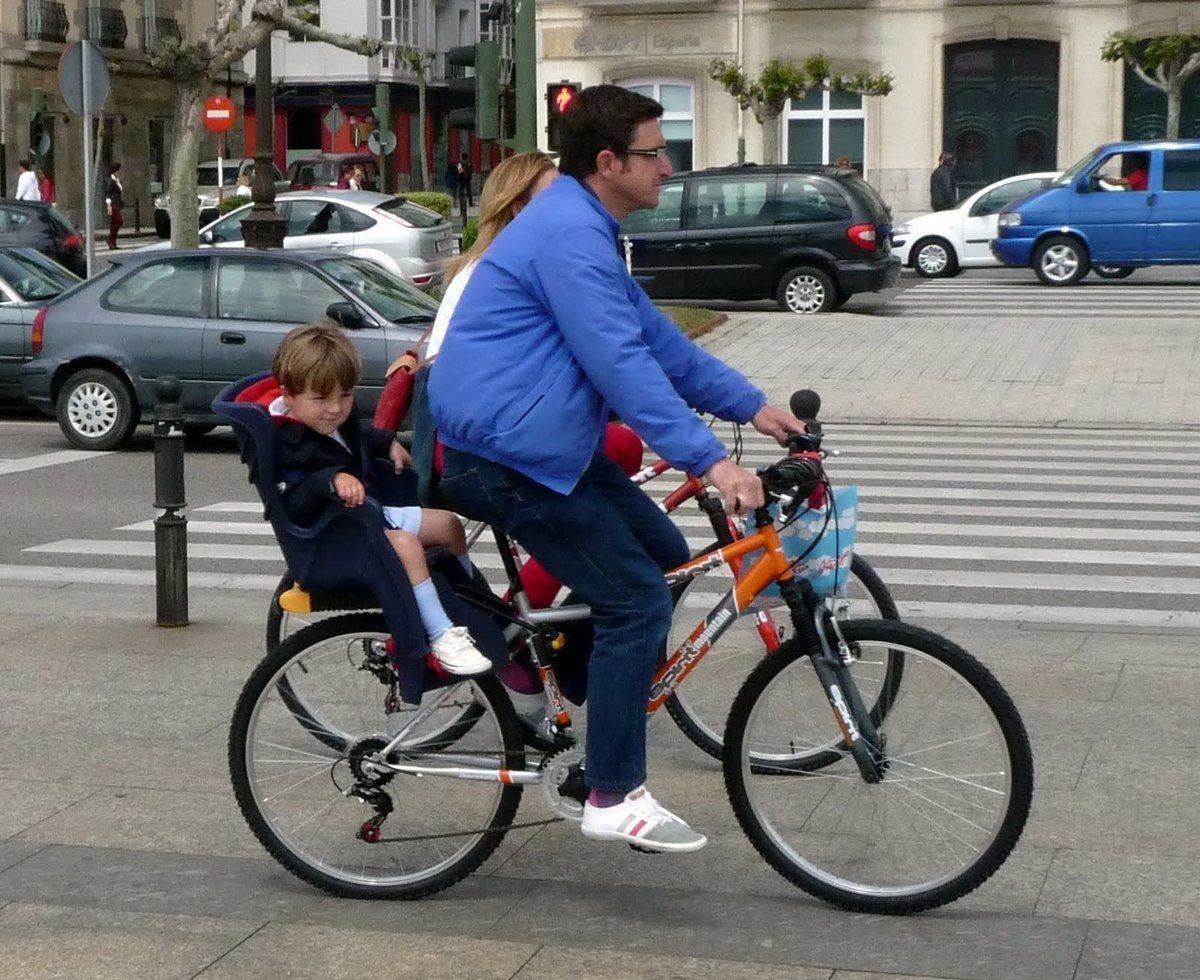 bici con niño