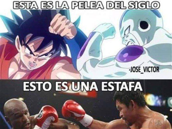 los-memes-del-combate-pacquiao-vs-mayweather-dragon-ball